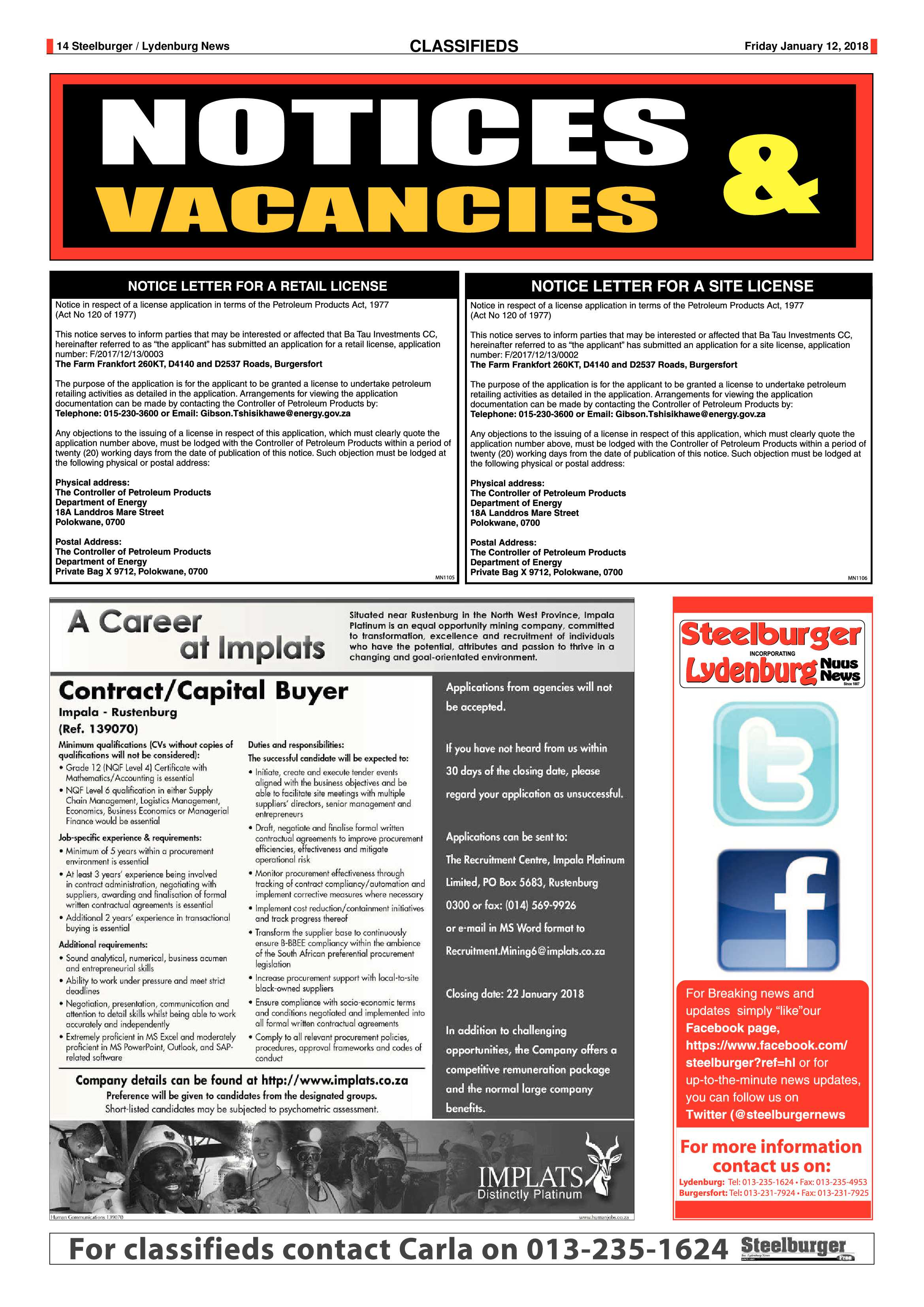 Steelburger 12 January 2018 Epapers Page 14