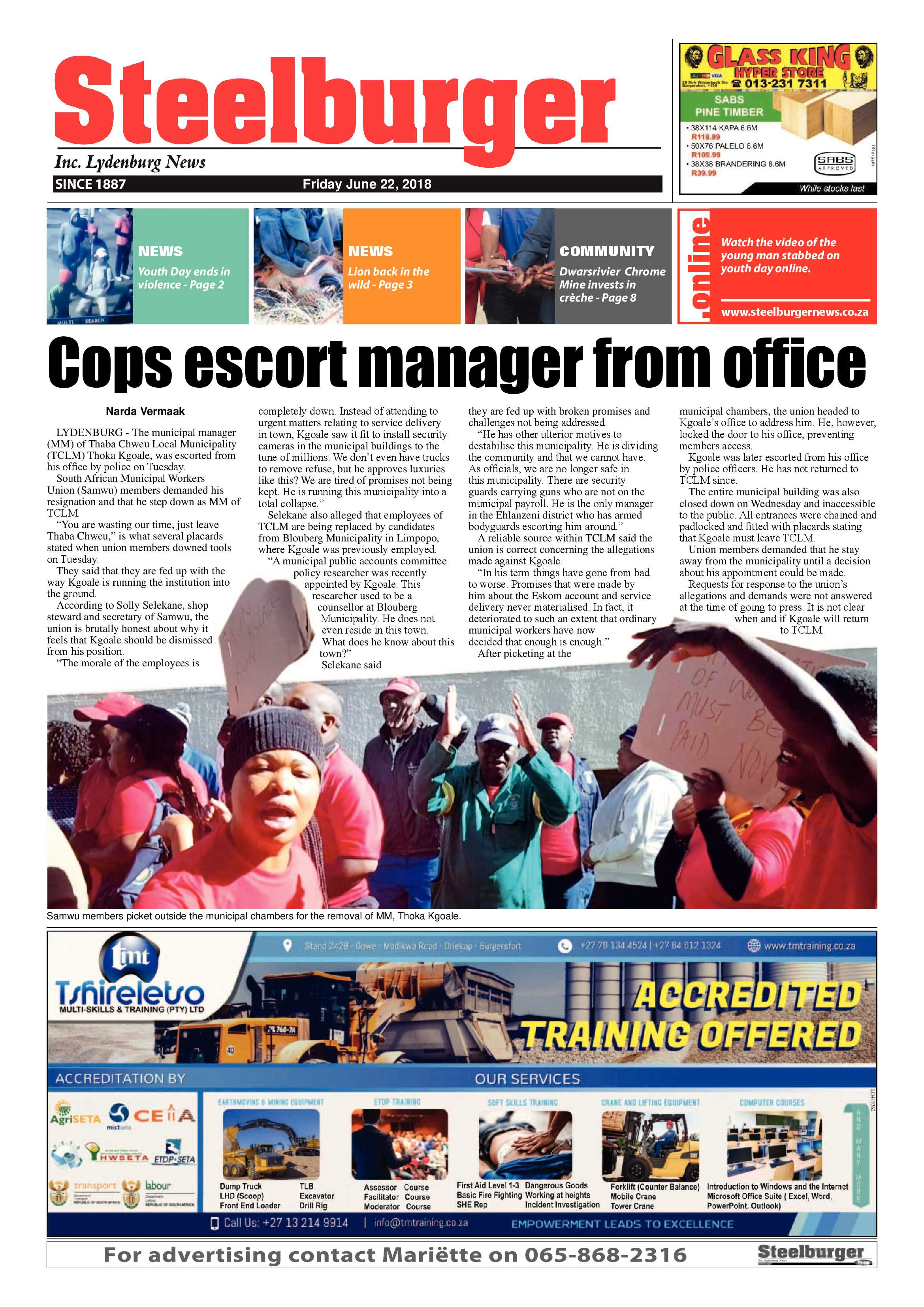 Steelburger News  Epapers Page 1