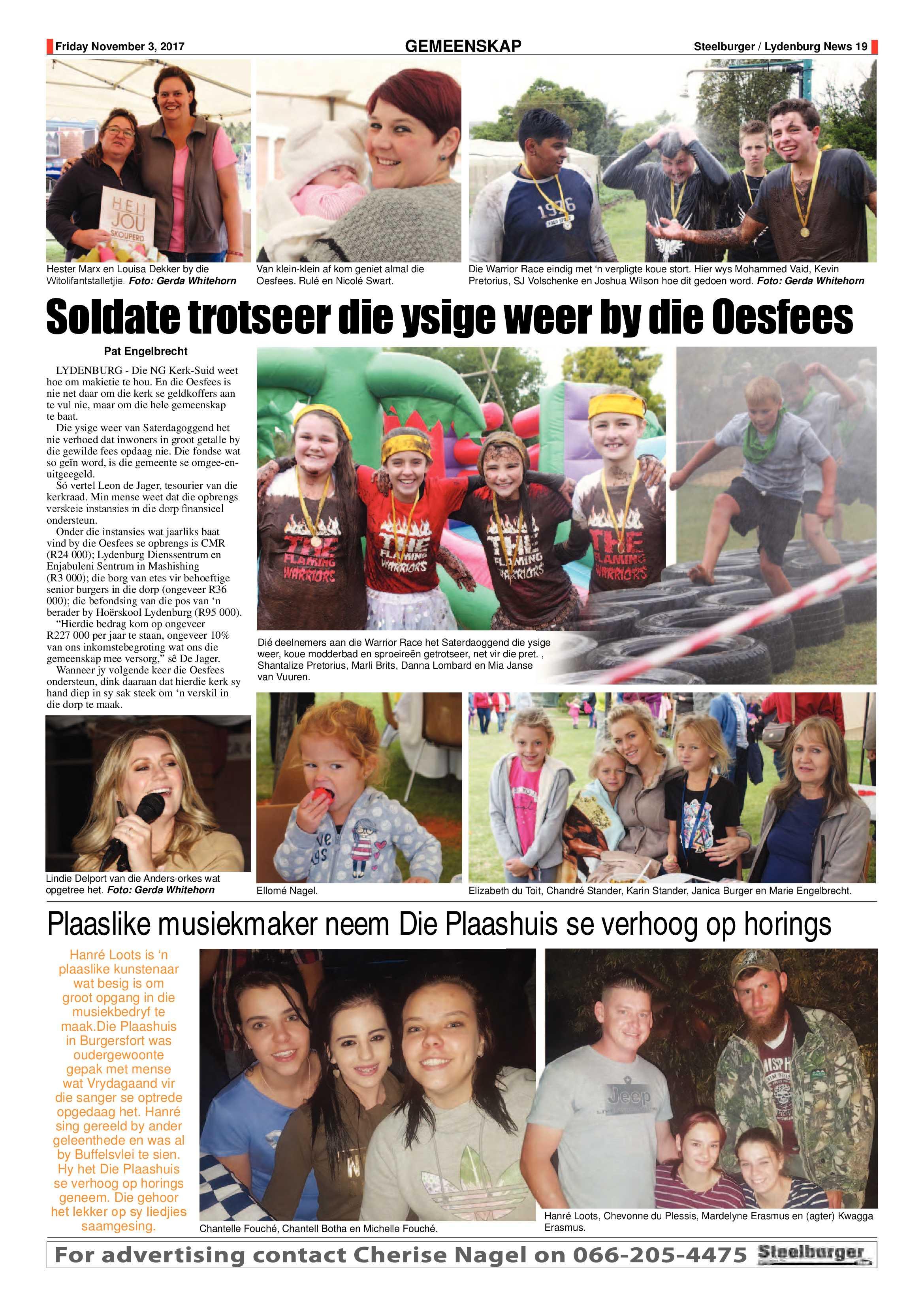 Steelburger News 3 November 2017 | Steelburger / Lydenburg News